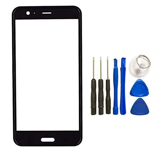 HTC U11 3D Screen Glass Panel Lens - Front Glass Touch Screen LCD Outer Panel Lens 3D Surface Curved Repair Part+Tools Kit for HTC U11 (Not LCD &Not Digitizer) ()