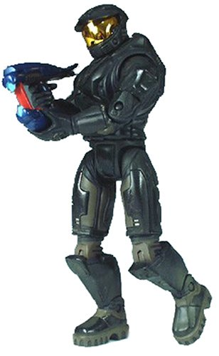 Halo ToyWiz.com Exclusive Limited Edition Action Figure Black Battle Damaged Master Chief [Shotgun, Needler & Magnum]