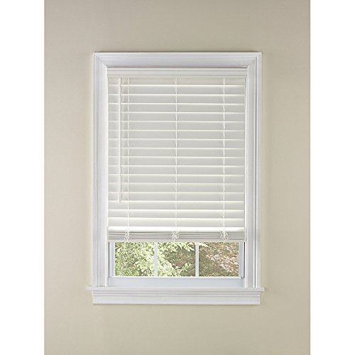 Levolor 1913789 2-in Cordless White Faux Wood Plantation Blinds
