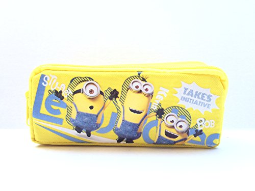 2015 New Minions Stuart-kevin-bob Pencil Holder/pouch/case(1pc Yellow)]()