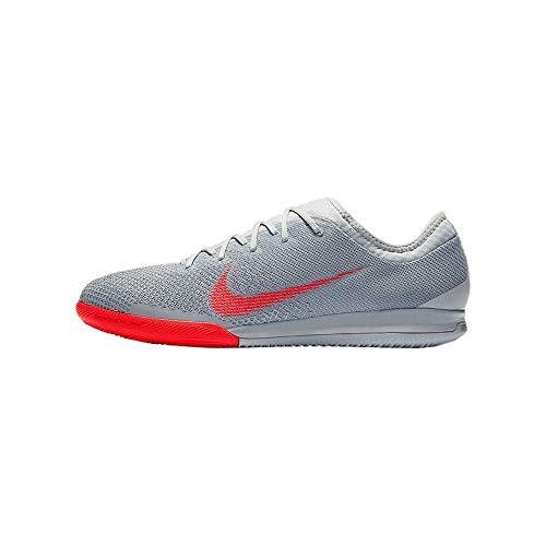 Nike MercurialX Vapor 12 Pro IC Soccer Shoe (Wolf Grey) (Men's 12/Women's 13.5) (Womans Nike Indoor Soccer Shoes)