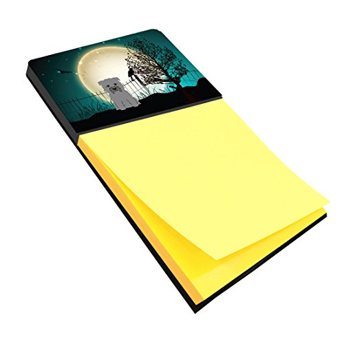 Caroline's Treasures BB2249SN Halloween Scary Glen of Imal Grey Sticky Note Holder, Large, Multicolor ()