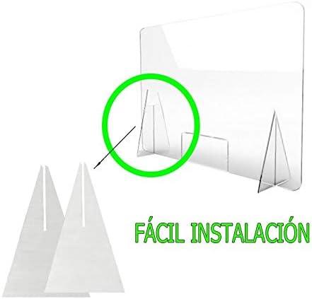 MAMPARA DE PROTECCIÓN METACRILATO TRANSPARENTE EXTRAFUERTE 4mm (80x100cm): Amazon.es: Bricolaje y herramientas