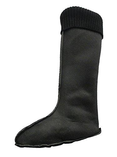 Black Woman Foam/Fleece Boot Liners (5-6 US Woman, Blackm Knit) - Fashion Boot Liners