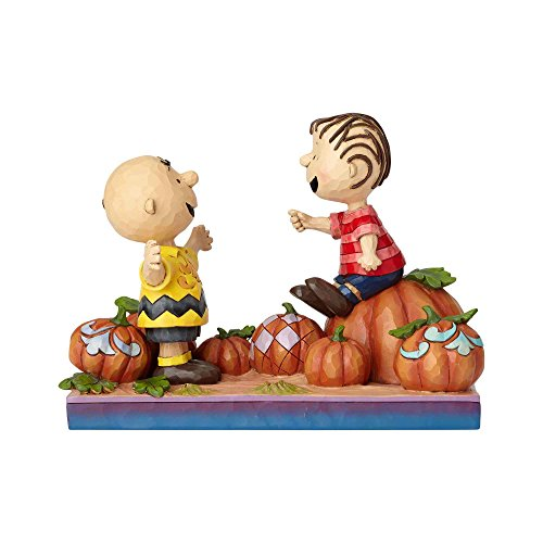 Enesco Peanuts by Jim Shore Charlie Brown and Linus Pumpkin Figurine 5.5