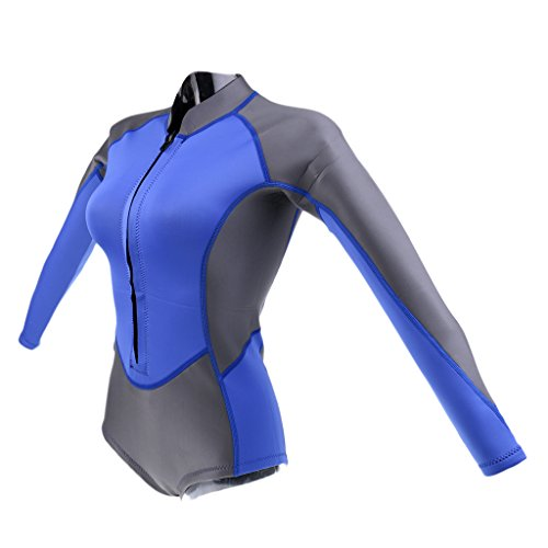 MagiDeal 2mm Neoprene Women Shortie Short Wetsuit Surfing Swimming Snorkeling Wakeboarding Suit S-XL - - Shortie Ladies Wetsuit