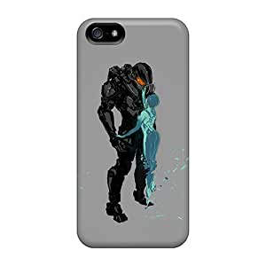 Protector Hard Phone Cases For Iphone 5/5s (PpY683ImMo) Provide Private Custom Lifelike Halo 4 Master Chief And Cortana Pattern
