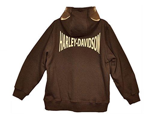 Skull Zip Fleece (Harley-Davidson Boys Youth Skull Face Fleece Full Zip Hoodie)