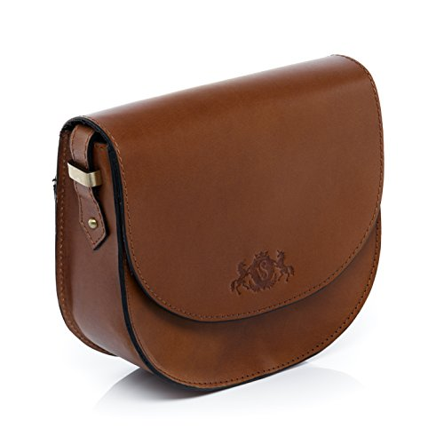 shoulder bag cross women´s cognac woman character amp; brown leather small stable bag handbag hobo SID Tan bag TRISH body VAIN real wP6IqzcPft