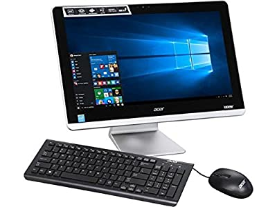 "2017 Acer Aspire All-In-One 19.5"" Full HD 1920x1080 Widescreen Desktop PC, Intel Celeron Quad-Core Processor, 4GB Memory, 500GB Hard Drive, DVD Dirve, Webcam, 802.11ac, Bluetooth, HDMI, Windows 10"