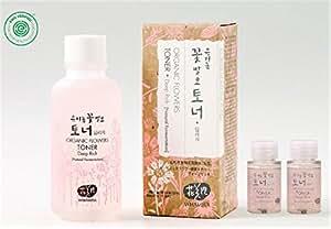 Whamisa Organic Flowers Skin Toner - Deep Rich Essence Toner 120ml + 40ml - Natural fermented | EWG Verified | BDIH Certified | Pure Natural Ingredients & 97.4% Organic