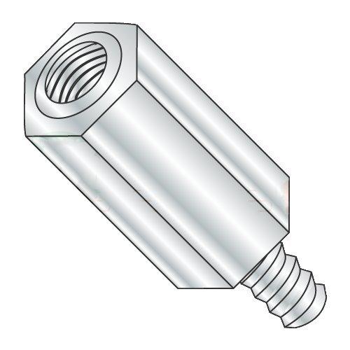 1/4'' OD Hex Standoffs (Male-Female) / 4-40 x 1/2'' / Aluminum/Outer Diameter: 1/4'' / Thread Size: 4-40 / Length: 1/2'' (Carton: 1,000 pcs) by Newport Fasteners