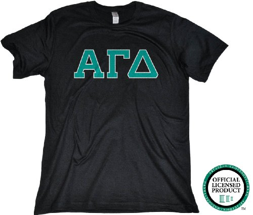 ALPHA GAMMA DELTA Fitted Unisex T-shirt / Turquoise Letters, AGD Sorority