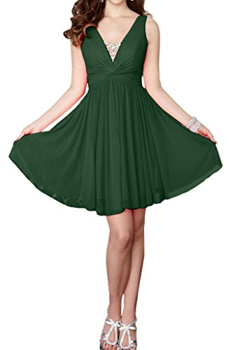 Missdressy - Vestido - plisado - para mujer Dunkelgruen