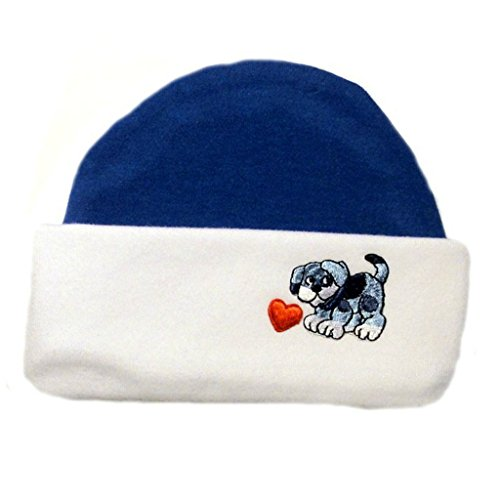 - Jacqui's Baby Boys' Blue Puppy and Hearts Hat, Preemie