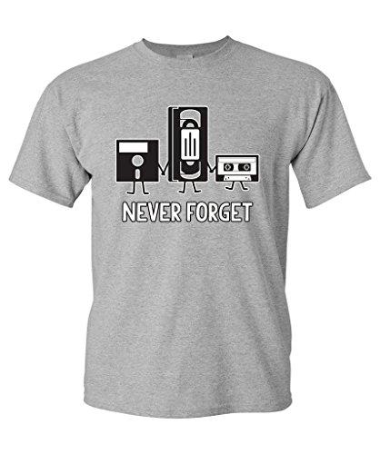 Never Forget Funny Retro Guys Music Men Funny T Shirt Xl Sport - Guys Fashion Retro