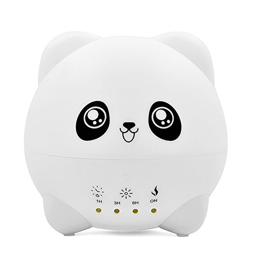 py Essential Oil Diffuser Personal Ultrasonic Cool Mist Humidifier Cute Panda Air Scent Aroma Diffusers for Bedroom,Home,Office Air Purifiers for Birthday Gifts 300ml ()