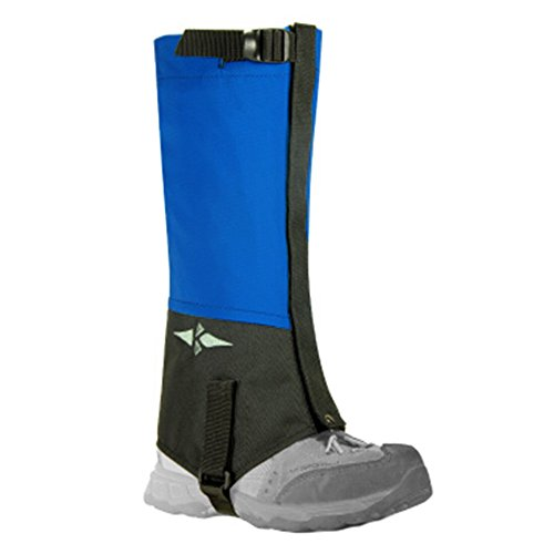 Set Of 2 Exercise Windproof Leg Binding Waterproof Foot Strap Shoe Gaiter Blue by Kylin Express