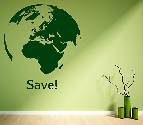 vinyl-decal-wall-sticker-quote-world-earth-greenpeace-living-room-decor-z1123