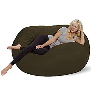 Chill Sack Bean Bag Chair: Huge 5′ Memory Foam Furniture Bag and Large Lounger – Big Sofa with Soft Micro Fiber Cover…