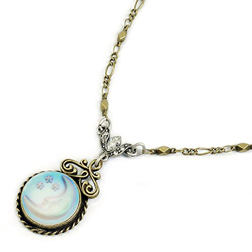 Sweet Romance Silver Crescent Necklace product image