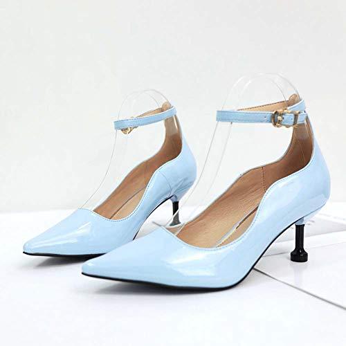Donna Blue Duuqili Ballo Da Tacco Alti Donne Basso Tacchi Sandali Scarpe Sexy Stivaletti Damigella Sera rwqx0Yr6