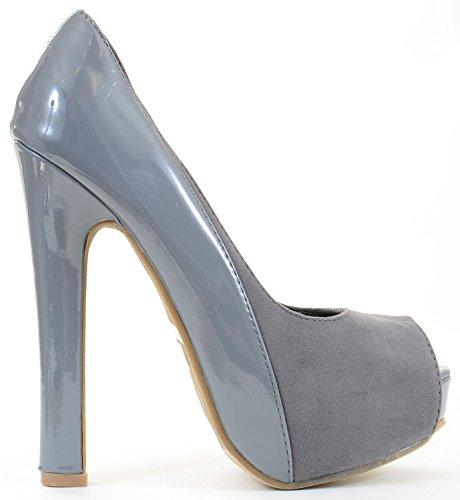 Fourever Funky - Sandalias de vestir de Piel para mujer gris
