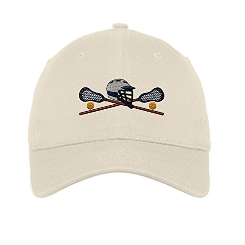 Lacrosse Sports Style 6 Twill Cotton 6 Panel Low Profile Hat Stone