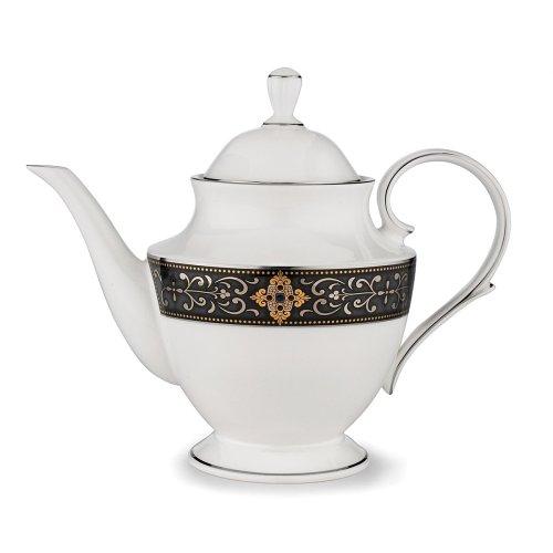 Platinum China - Lenox Vintage Jewel Platinum Banded Bone China Teapot