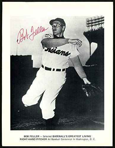 Bob Feller Autographed Signed Memorabilia 8.5X11 Magazine Page Photo Cleveland Indians 151521 - Certified Authentic