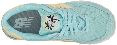 New Balance Womens 574 Miami Palms Pack Lifestyle Fashion Sneaker Ozone Blue Glo/Pollen gWNkvMYnA