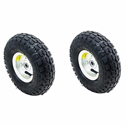 WShop 2pcs. Tires Set 10 in. Air Pneumatic Wheel Tires Handtruck Garden Cart Wagon Dump #122 by Wichai Shop