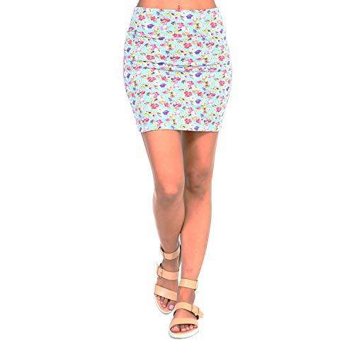 c309672b4c Fashionazzle Women's Casual Stretchy Bodycon Pencil Mini Skirt (Medium,  KS05-#12 Blue
