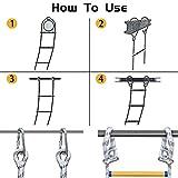 JaeMoose Emergency Fire Escape Rope Ladder Flame