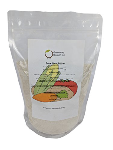 Bone Meal 3-15-0 Plus 24% Calcium Greenway Biotech Brand 5 Pounds