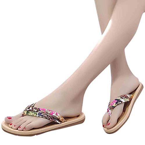 e3663893e5e7e Women s Summer Flip Flops Thong Sandals Flat Beach Bohe Yago Outdoor  Non-Slip Slippers Shoes