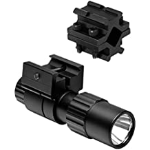 M1SURPLUS Presents A Tactical Compact LED Flashlight Kit With Universal Fit Clamp On Barrel Mount Fits Ruger 10/22 Ranch American Mossberg 715t FLEX22 S&W 15-22 Remington 597 Rifle