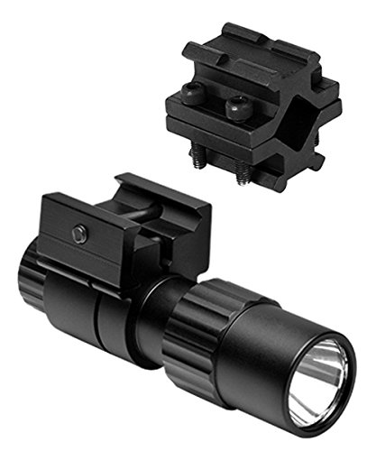 M1SURPLUS Presents A Tactical Compact LED Flashlight Kit With Universal Fit Clamp On Barrel Mount Fits Ruger 10/22 Ranch American Mossberg 715t FLEX22 S&W 15-22 Remington 597 (22 Short Rifles)