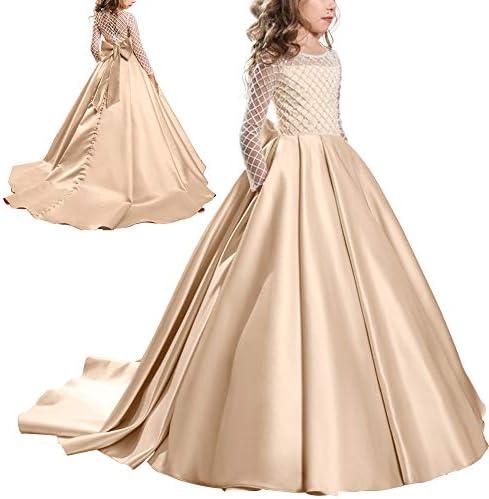 Kinder Mädchen Prinzessin Tutu Kleider Hochzeit Partykleid Festkleid Kommunion