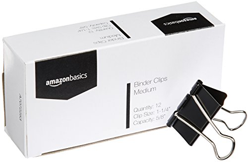 AmazonBasics Binder Clips, Medium, 12 per Box, 8-Pack Photo #4