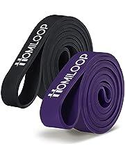 HOMILOOP Pull up Assist Bands,Latex Resistance Band Loop voor krachttraining,Home Gym apparatuur voor mannen en vrouwen-Medium niveau