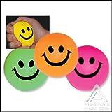 Neon Smile Face Stress Balls - 12 per order