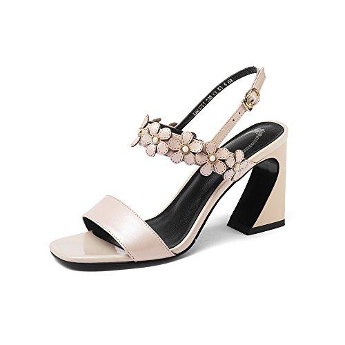 Peep Bloque amp;s Sandalias De Mujer Toe Tacones Pink Mei 5XqP5