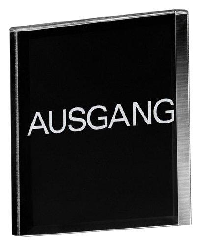 Sigel - Pictograma (acrílico, con el mensaje Ausgang, cuadrado) PA319