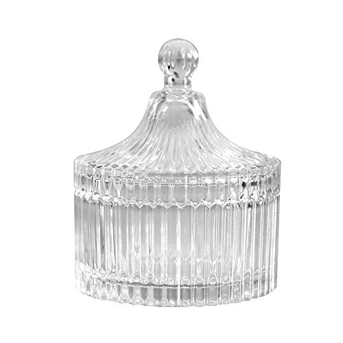 Danmu 1Pc of Clear Glass Storage Jar with Lid Candy Cookie Jar Jewelry Box Buffet Jar Biscuit Container (620 ml / 21 oz) from Danmu