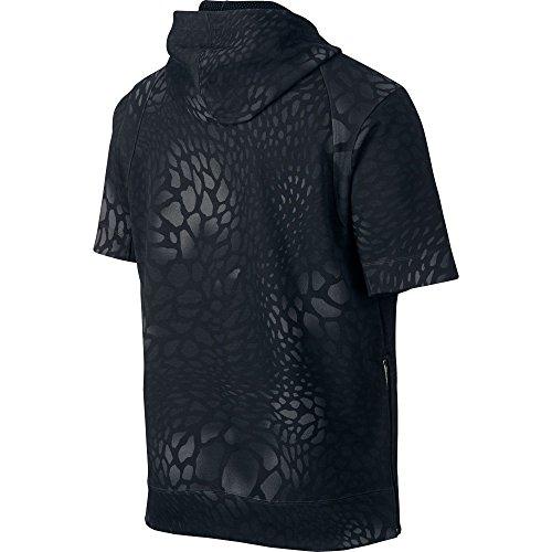 Jordan XXX Blackcat Short Sleeve Mens Hoodie Black/Metallic Cacao 706565-010 Black/Metallic Cacao