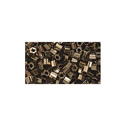 Shipwreck Beads 8/0 8c-457 Miyuki Seed Hex Cut Bead, Metallic Dark Bronze