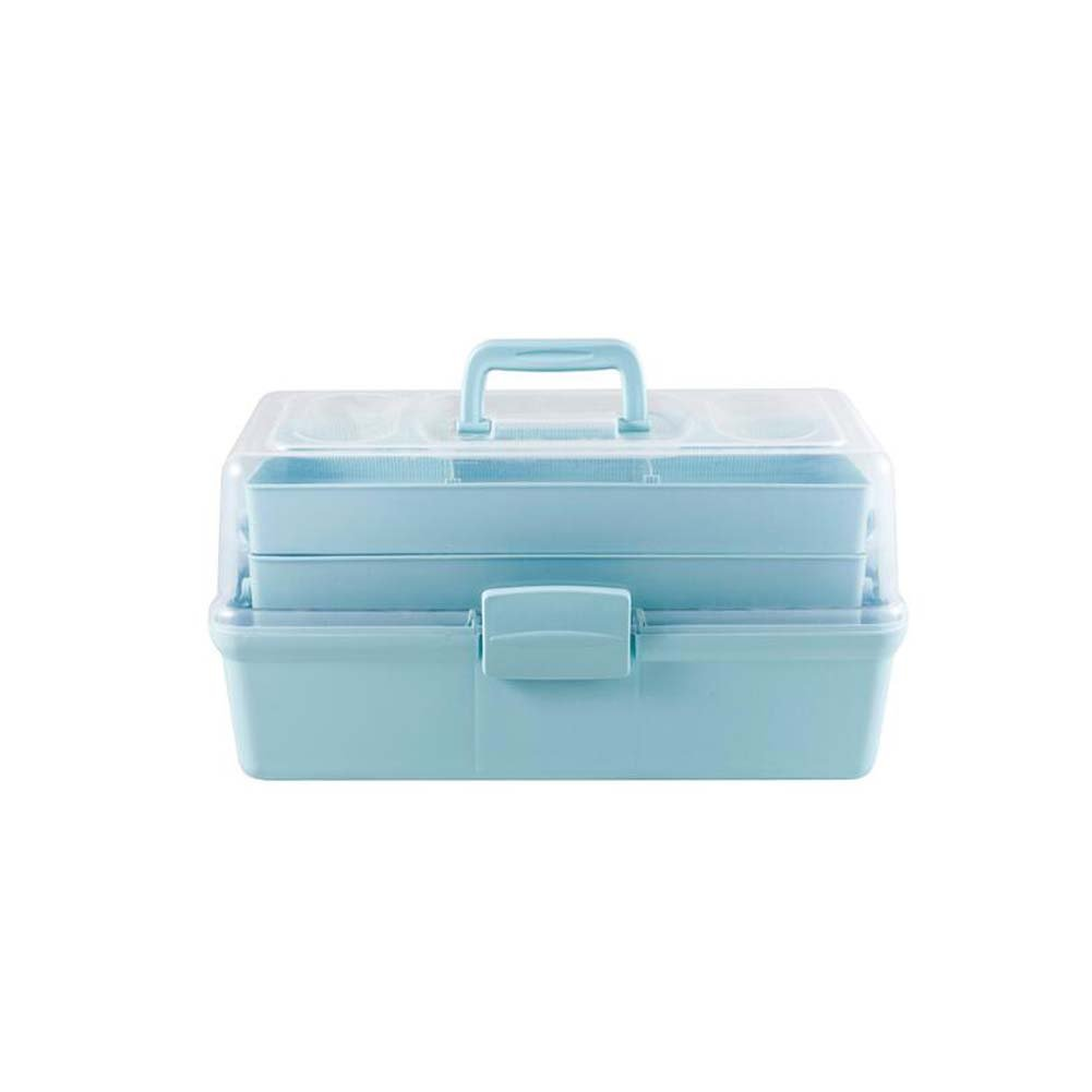 Large Medicine Cabinet Medicine Storage Box First Aid Kit Blue