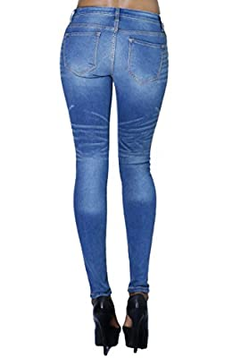 Women's Fashion Casual Soft Slim Skinny Jeans with Back Pockets