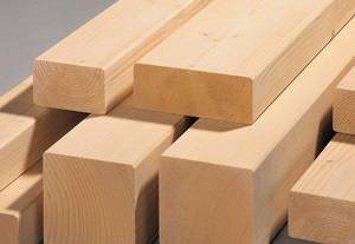 Rahmenholz 45 x 45mm 2000mm Konstruktionsvollholz Fichte 4,99€/Lfm KVH Kantholz